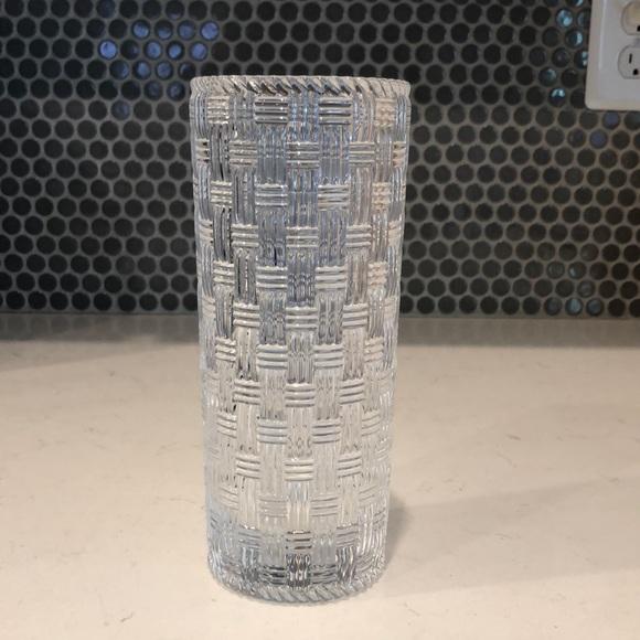 "Tiffany & Co. Basketweave 8"" Vase"